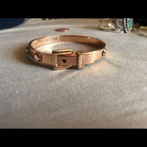 Rose Gold Michael Kors studded buckle bangle